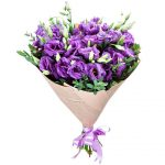 Violetiniu eustomu puokste foto 1