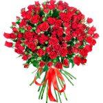 Raudonos krumines rozes foto 1